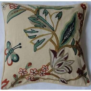 Crewel Pillow Dal Beach Cordia Cotton Duck
