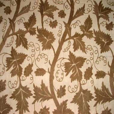 Crewel Fabric Kashmir Chinar Lake Cotton Duck