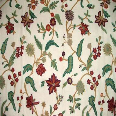 Crewel fabric Bloom Harten Tree Flower Doosuti