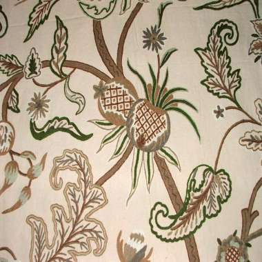Crewel Fabric Chelsea Philippine Violet Cotton Duck
