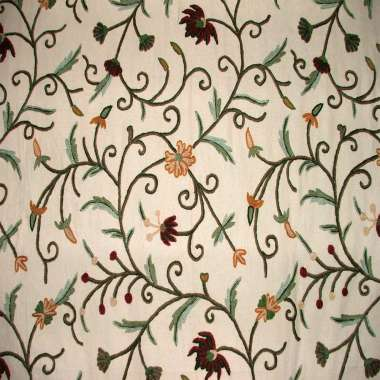 Crewel Fabric Techmal Nepal Trumpet Flower Duck